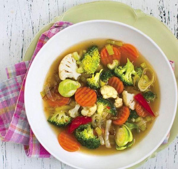 Овощной суп для кормящих мам