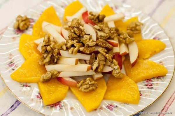 Салат из тыквы и яблок