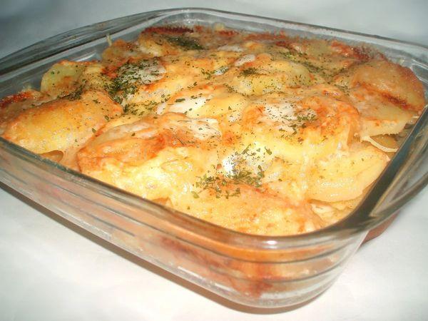 Запеканка с сыром и грибами