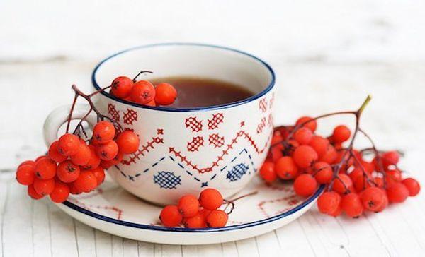 Рябиновый чай со смородиной