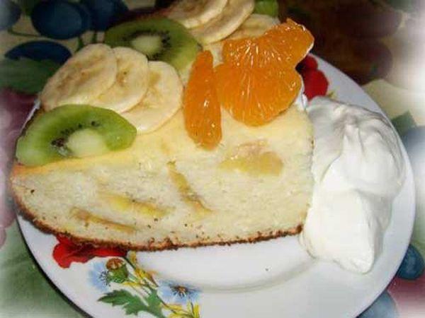 Запеканка из творога и фруктов