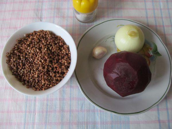 Ингредиенты для каши со свеклой