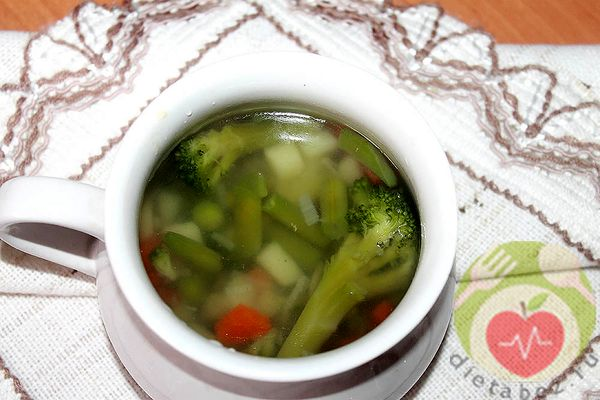 Легкий питательный суп при болезнях ЖКТ