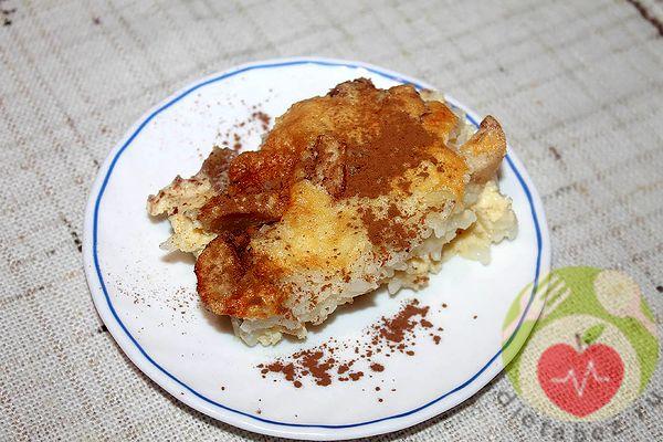 Рисовый пудинг с яблоками