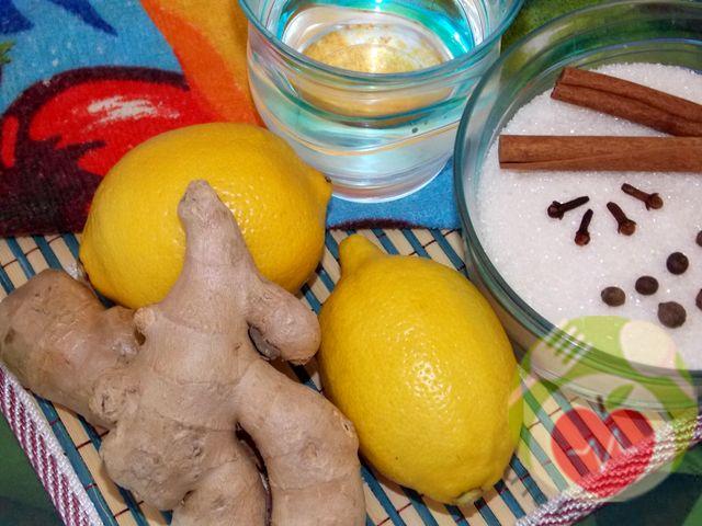 имбирь, лимон, корица