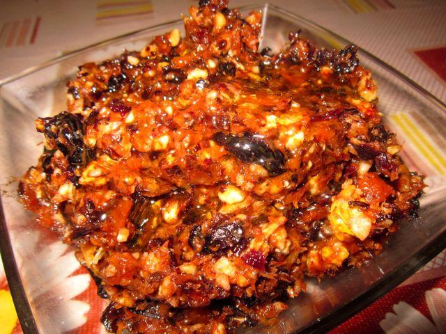Блюдо из сухофруктов