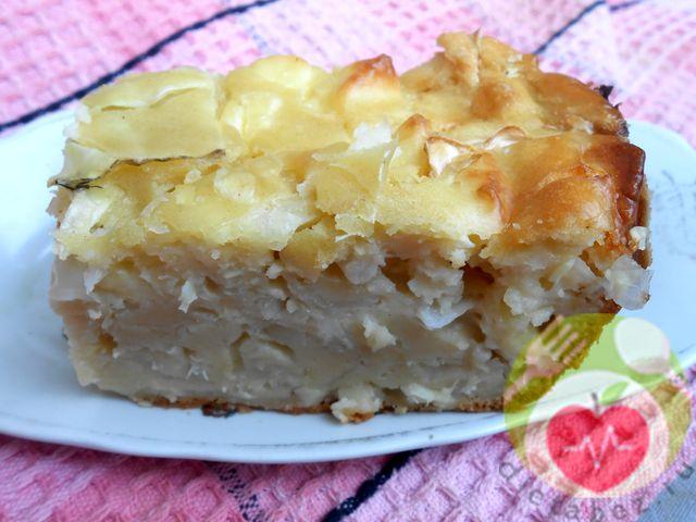 Пирог с брынзой и капустой