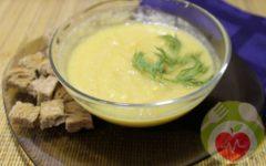 суп пюре из цветной капусты и кабачка